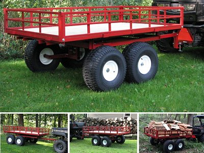 7740UTV Twin Axle Off-Road Utility Vehicle Trailer